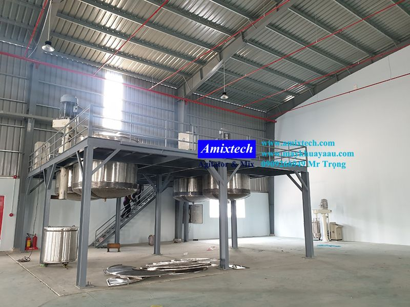 hệ thống sàn thao tác sản xuất sơn nước