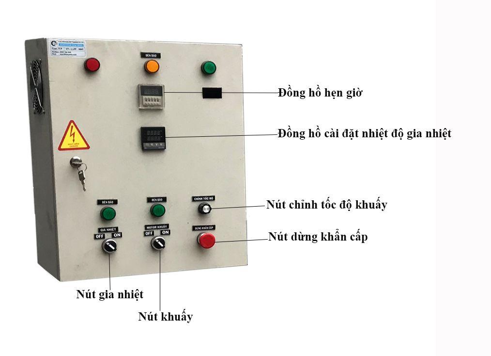tủ điều khiển bồn khuấy gia nhiệt hóa chất