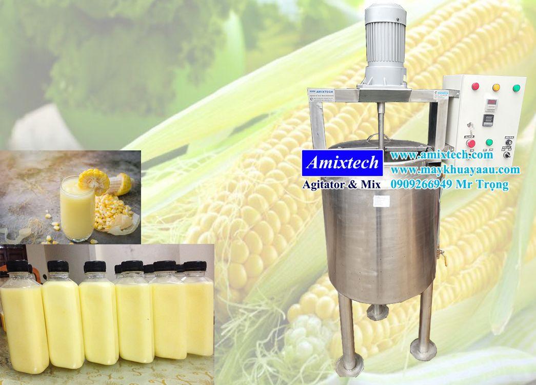 nồi nấu gia nhiệt sữa bắp có cánh khuấy 100L