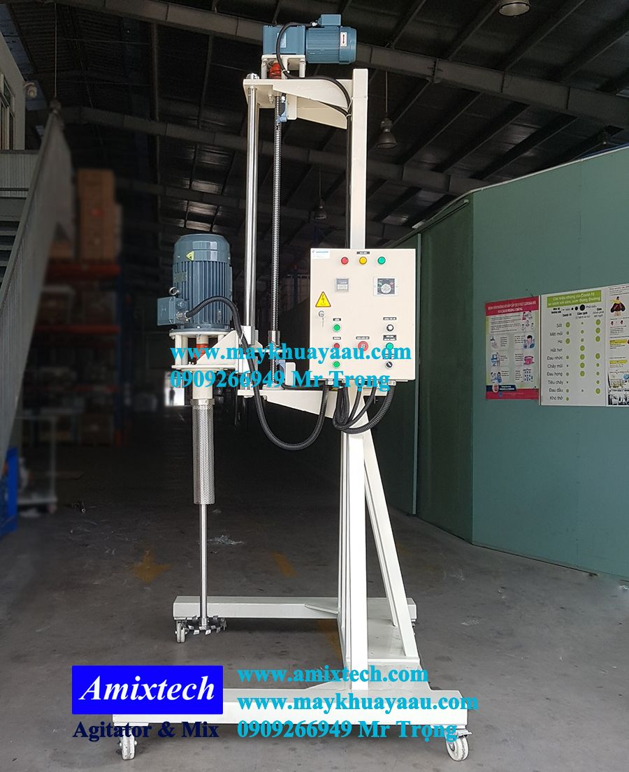 máy khuấy nâng hạ tự động thùng IBC 1000 lít