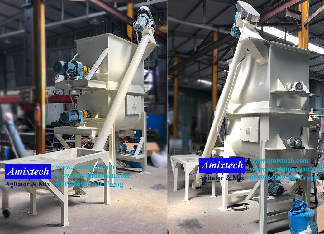máy trộn bột bả 2 tầng 500kg