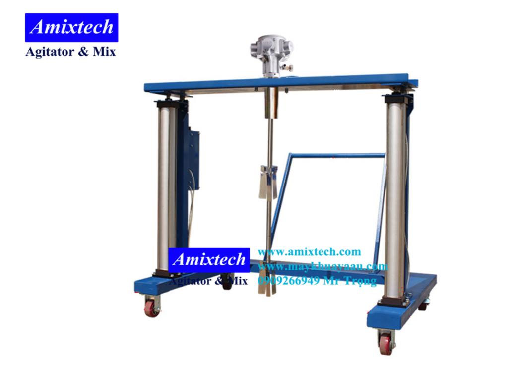 máy khuấy khí nén thùng ibc 1000 lít Amix-K07