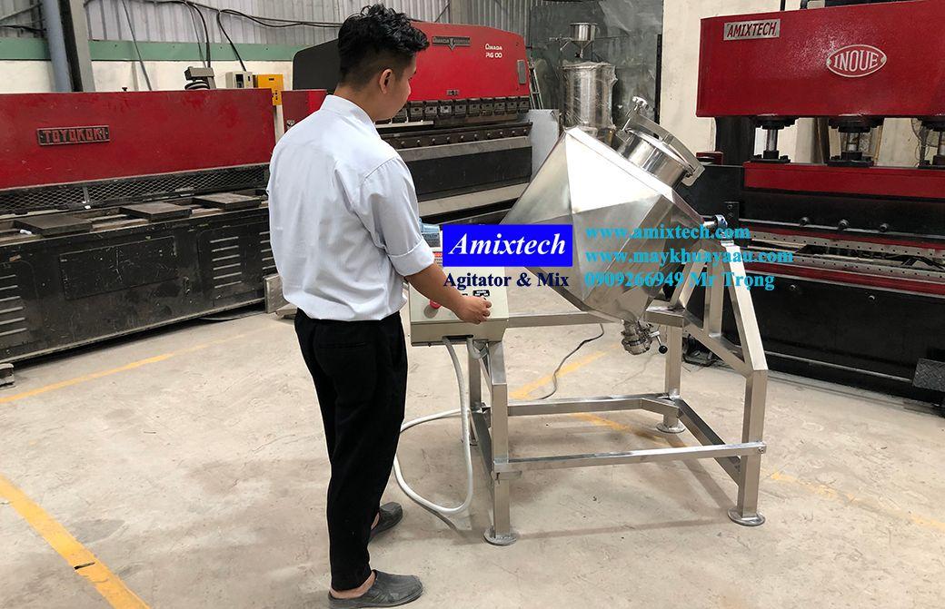 máy trộn lập phương 50kg amix-mt06